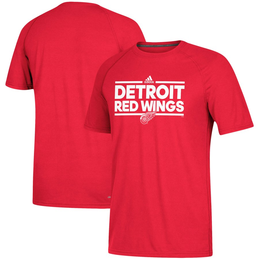 Detroit Red Wings adidas Dassler climalite T-Shirt Red