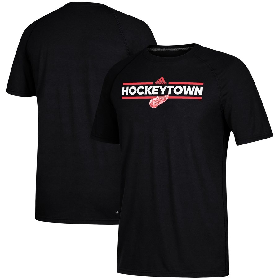 Detroit Red Wings adidas Local Dassler climalite T-Shirt Black