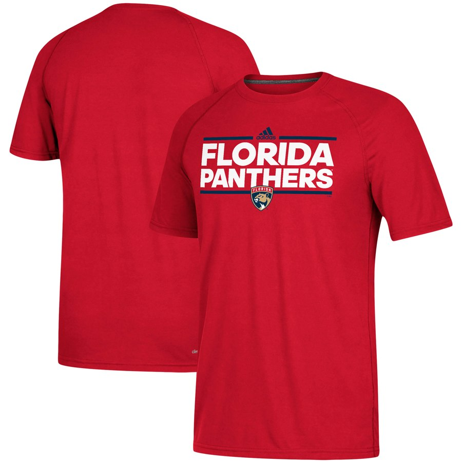 Florida Panthers adidas Dassler climalite Raglan T-Shirt Red