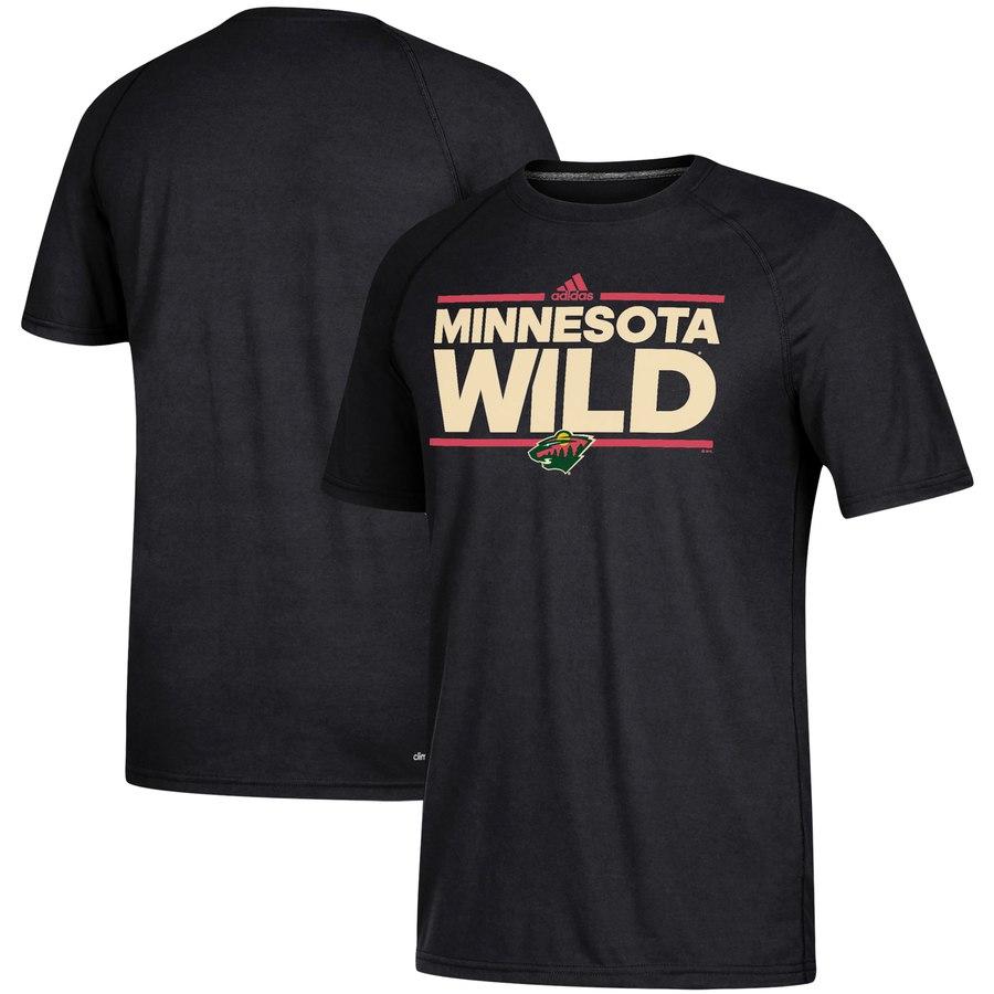 Minnesota Wild adidas Dassler climalite T-Shirt Black