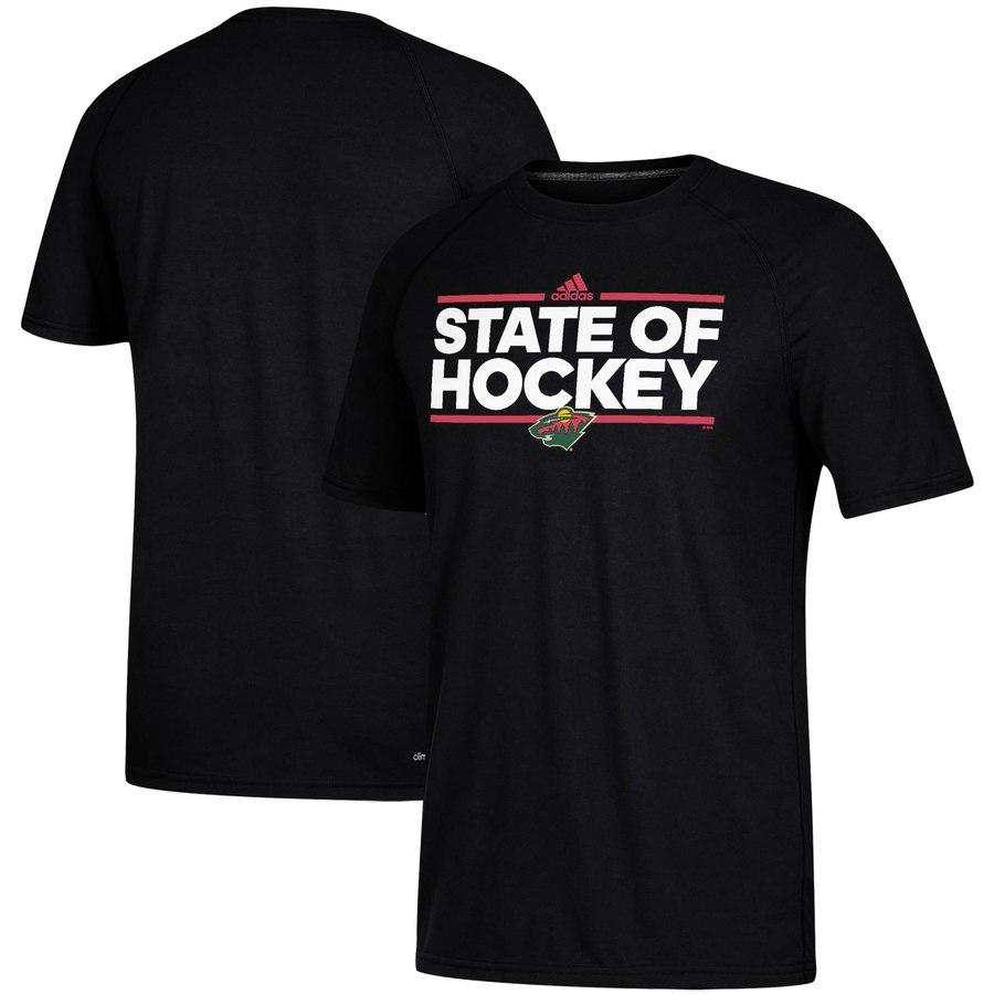 Minnesota Wild adidas Local Dassler climalite T-Shirt Black