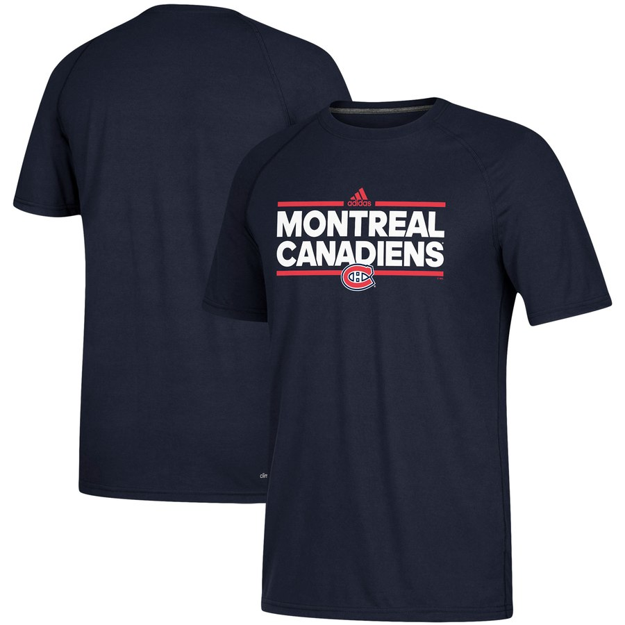 Montreal Canadiens adidas Dassler climalite T-Shirt Navy