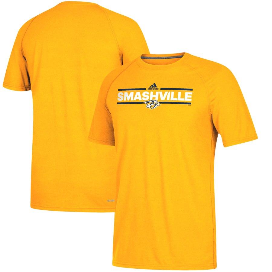 Nashville Predators adidas Local Dassler climalite T-Shirt Gold