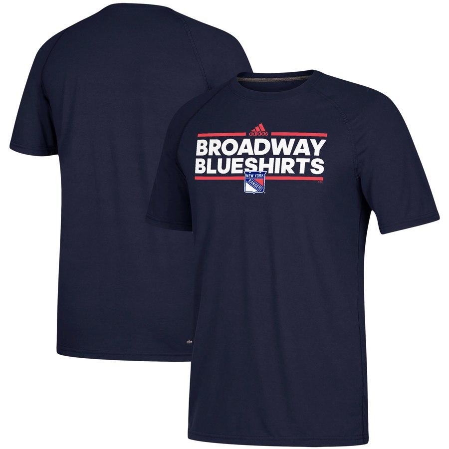 New York Rangers adidas Local Dassler climalite T-Shirt Navy