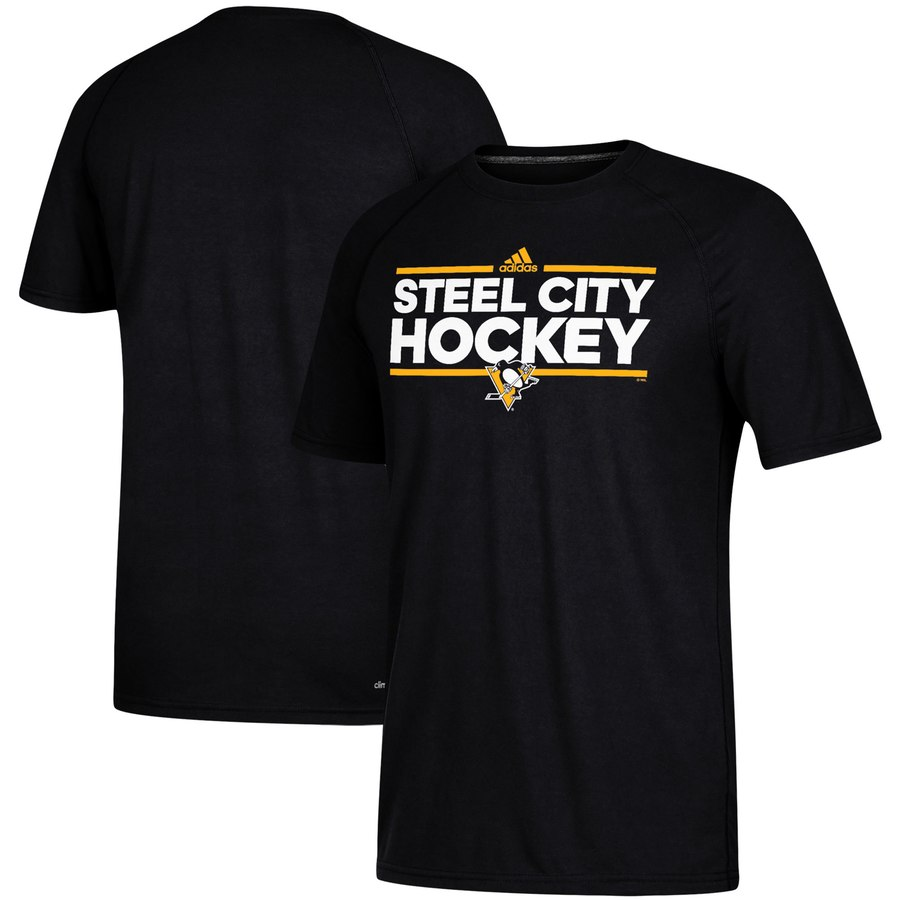 Pittsburgh Penguins adidas Local Dassler climalite T-Shirt Black