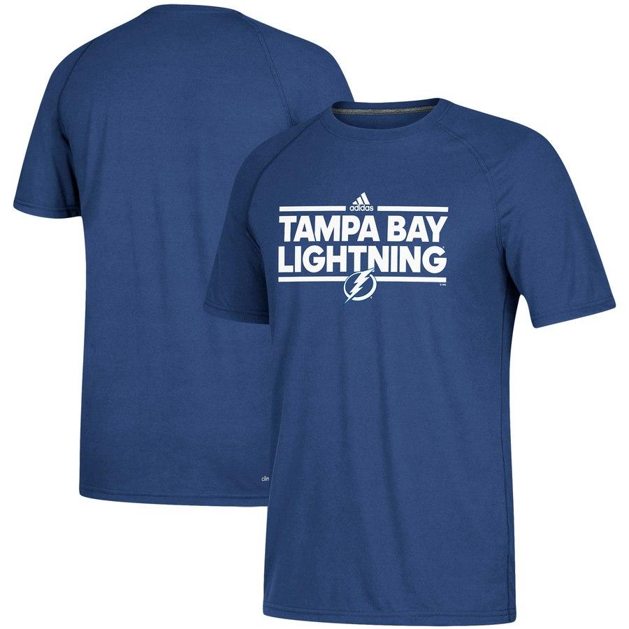 Tampa Bay Lightning adidas Dassler climalite T-Shirt Blue