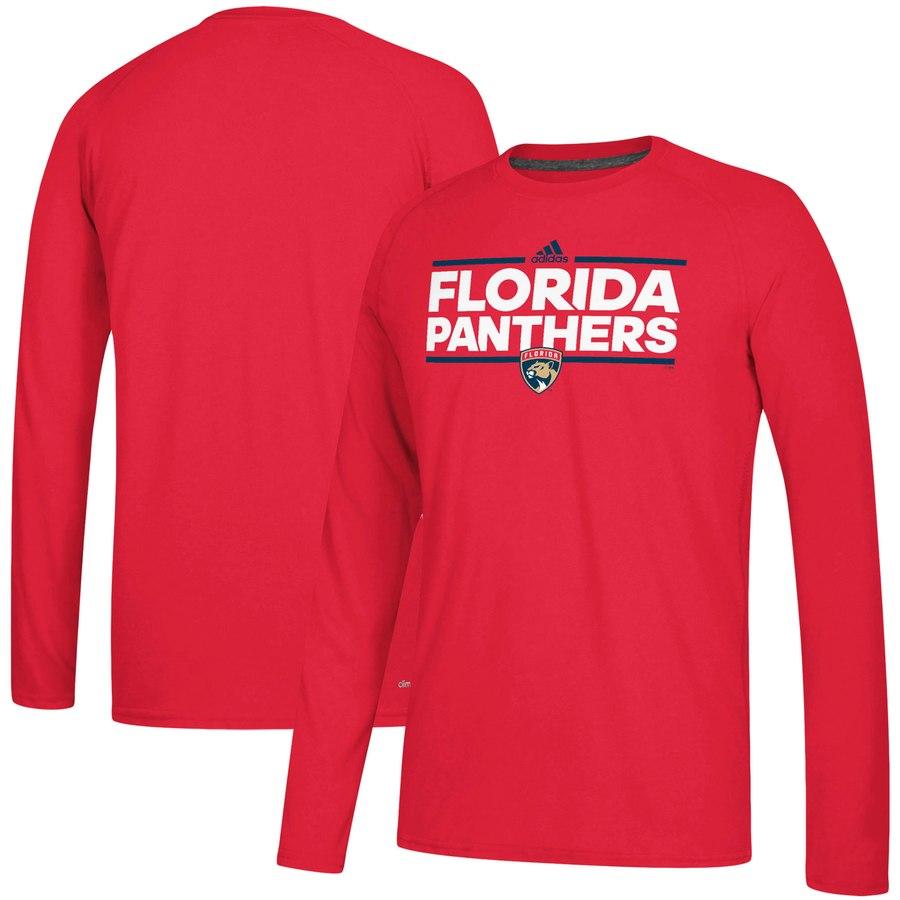 Florida Panthers adidas Dassler climalite Long Sleeve Raglan T-Shirt Red