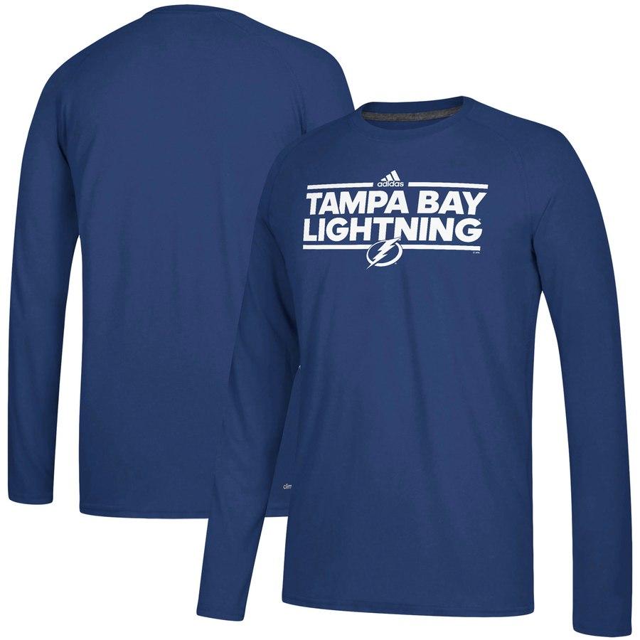 Tampa Bay Lightning adidas Dassler climalite Long Sleeve Raglan T-Shirt Blue