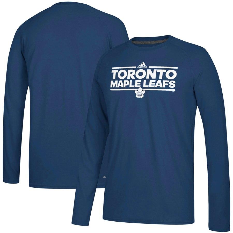 Toronto Maple Leafs adidas Dassler climalite Long Sleeve Raglan T-Shirt Blue