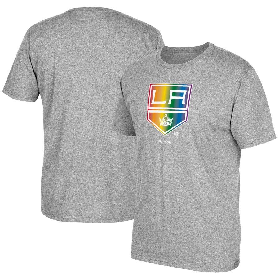 Los Angeles Kings Reebok Rainbow Pride T-Shirt Gray