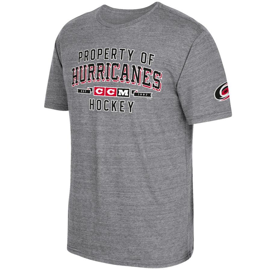 Carolina Hurricanes CCM Property Block Tri-Blend T-Shirt Gray