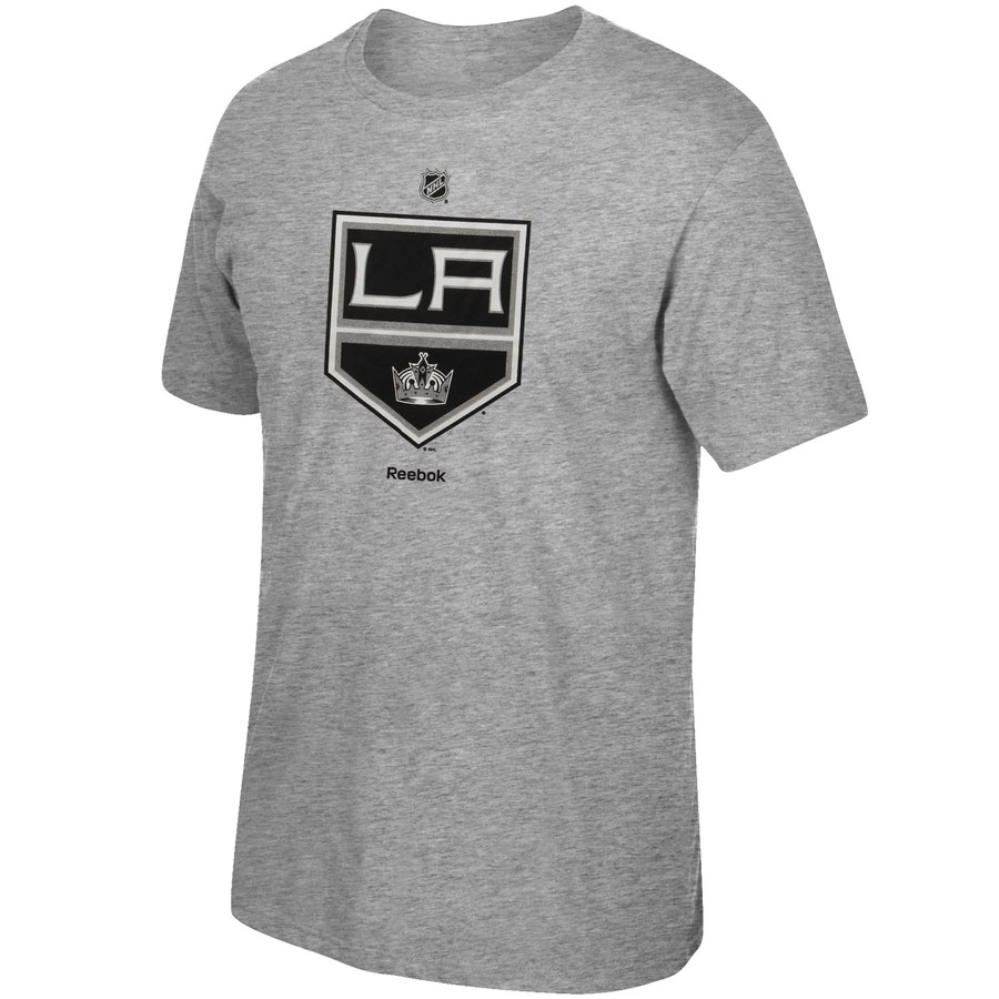Los Angeles Kings Reebok Primary Logo T-Shirt Gray