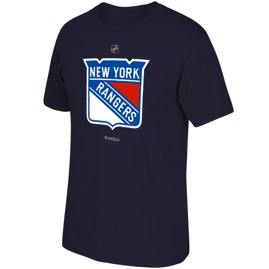 New York Rangers Reebok Primary Logo T-Shirt Navy