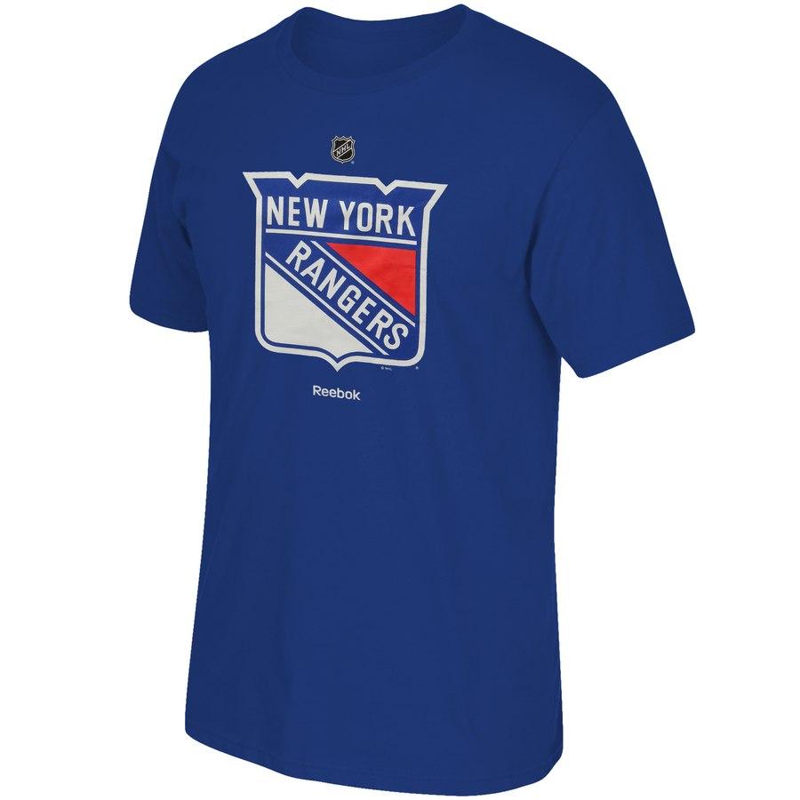 New York Rangers Reebok Primary Logo T-Shirt Royal