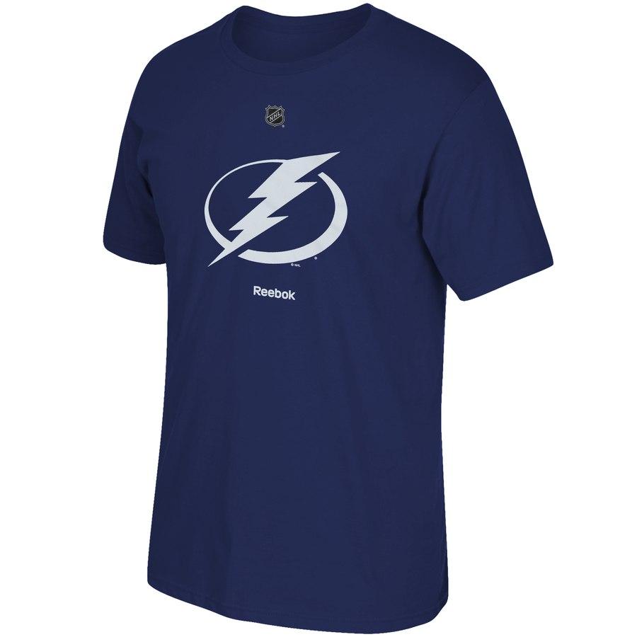 Tampa Bay Lightning Reebok Primary Logo T-Shirt Blue