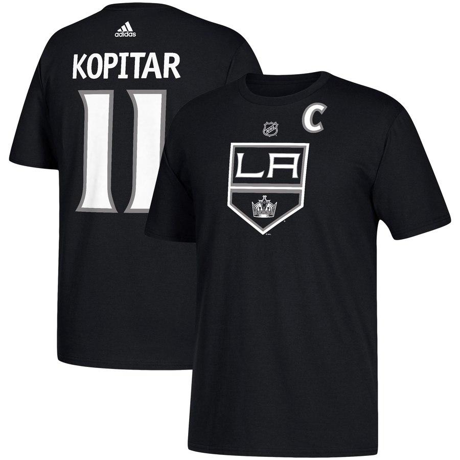 Los Angeles Kings #11 Anze Kopitar adidas Name & Number T-Shirt Black