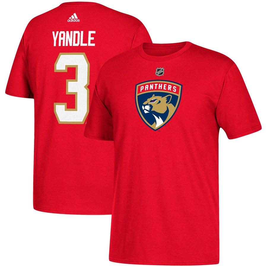 Florida Panthers #3 Keith Yandle adidas Name & Number T-Shirt Red