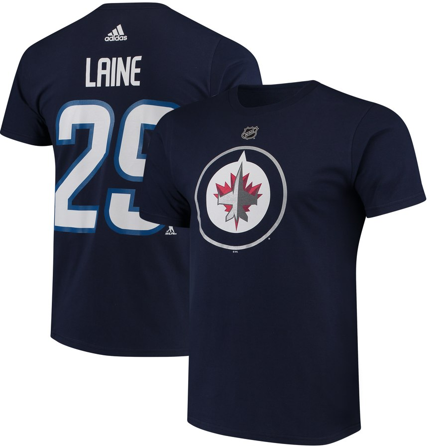 Winnipeg Jets #29 Patrik Laine adidas Name & Number T-Shirt Navy