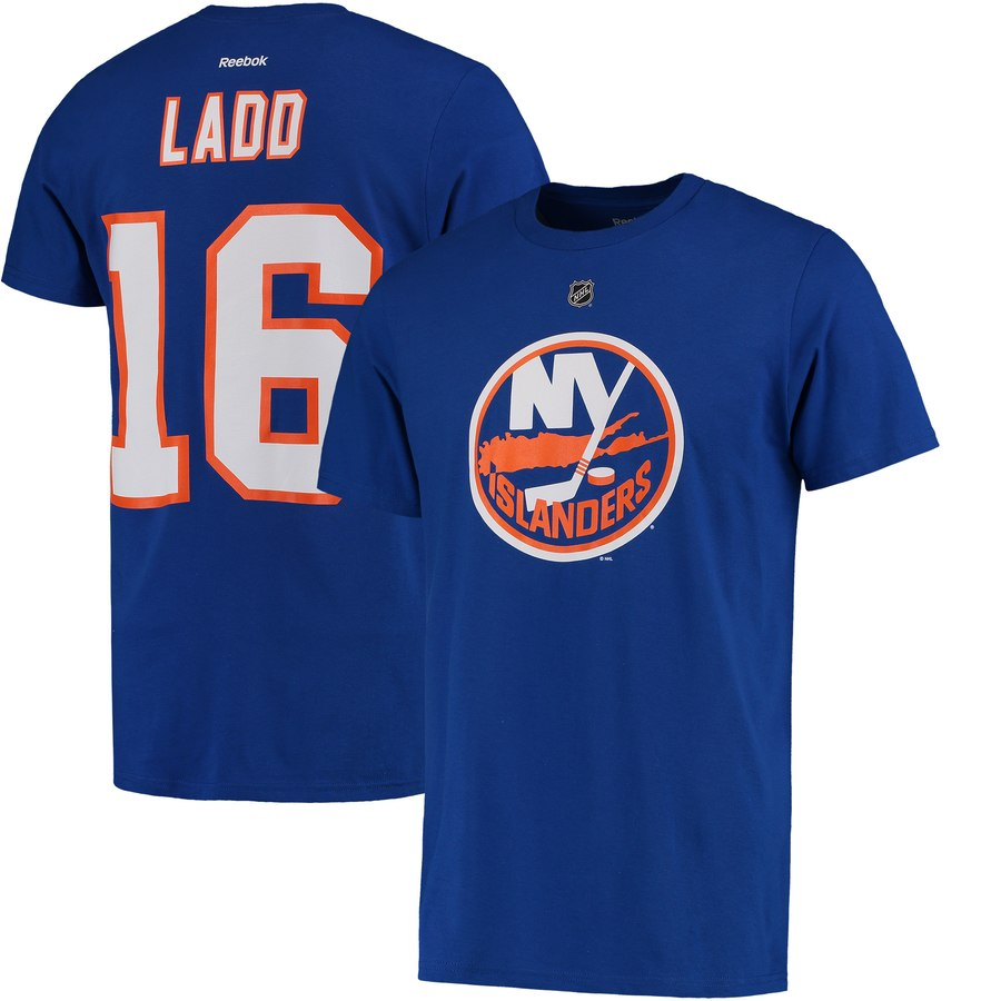 New York Islanders #16 Andrew Ladd Reebok Name & Number T-Shirt Royal