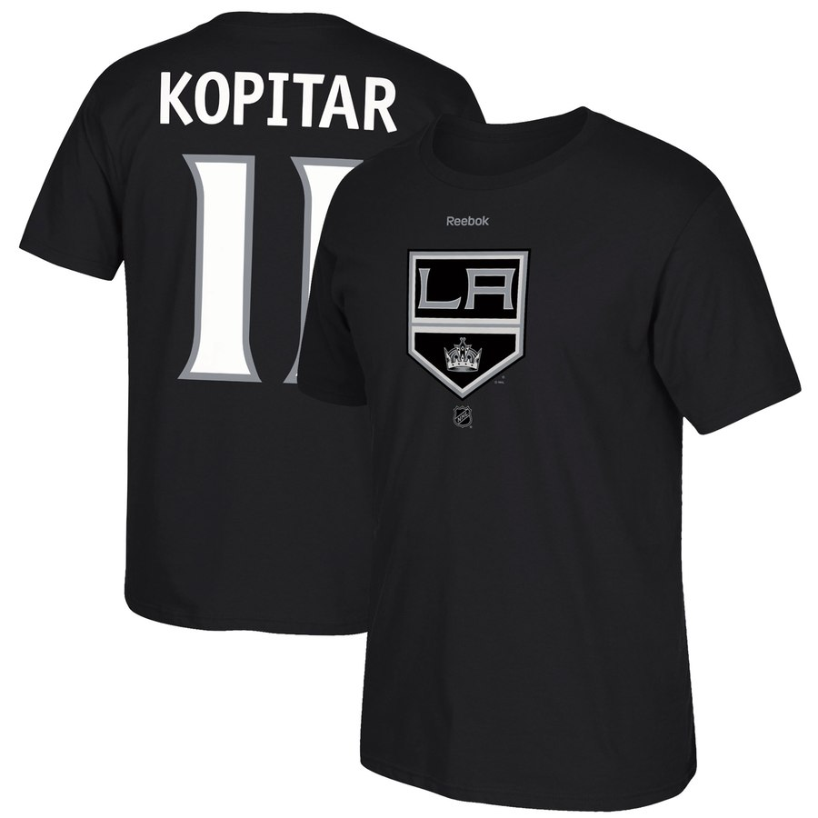 Los Angeles Kings #11 Anze Kopitar Reebok Center Ice TNT Reflect Logo Name & Number T-Shirt Black