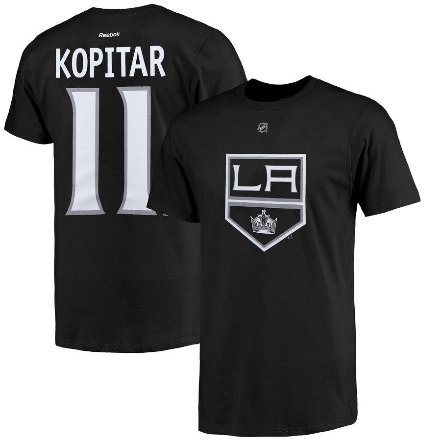 Los Angeles Kings #11 Anze Kopitar Reebok Name and Number Player T-Shirt Black