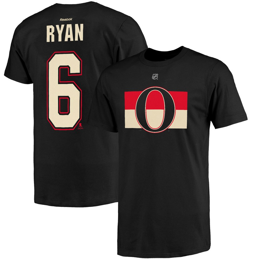 Ottawa Senators #6 Bobby Ryan Reebok Name and Number Player T-Shirt Black