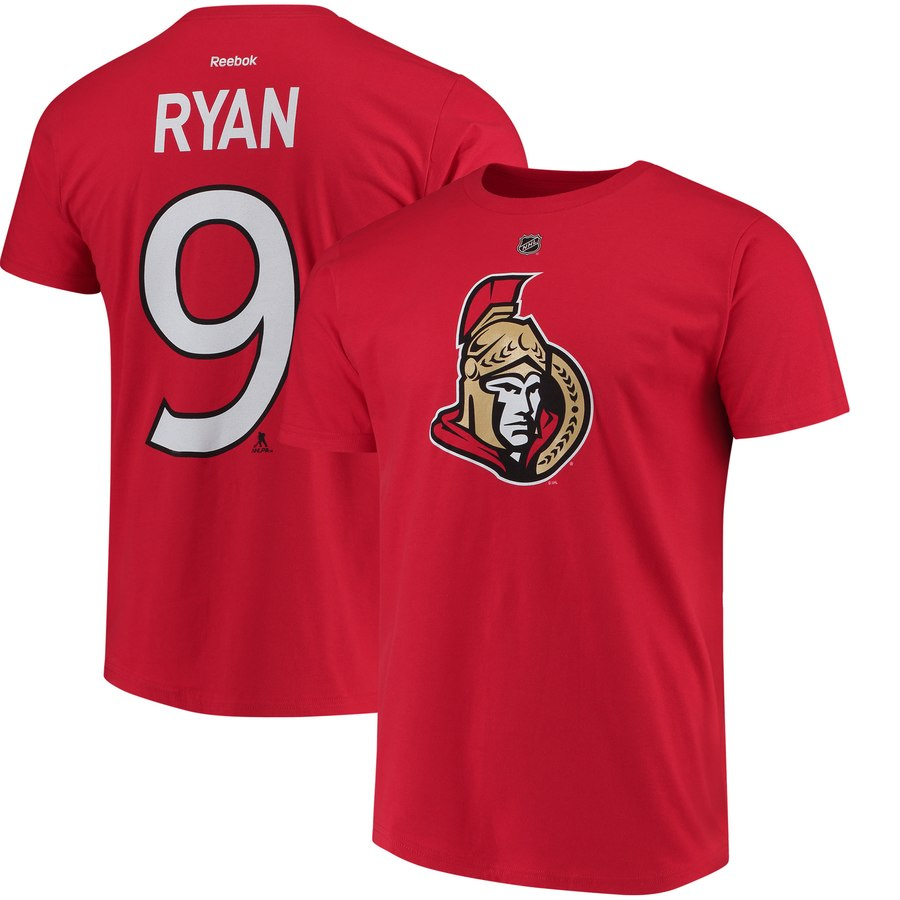 Ottawa Senators #9 Bobby Ryan Reebok Third Name & Number T-Shirt Red