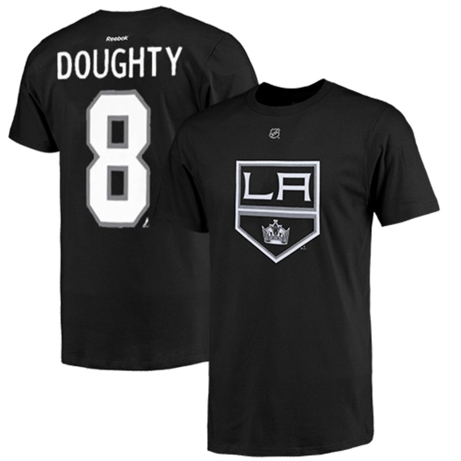Los Angeles Kings #8 Drew Doughty Reebok Name and Number Player T-Shirt Black