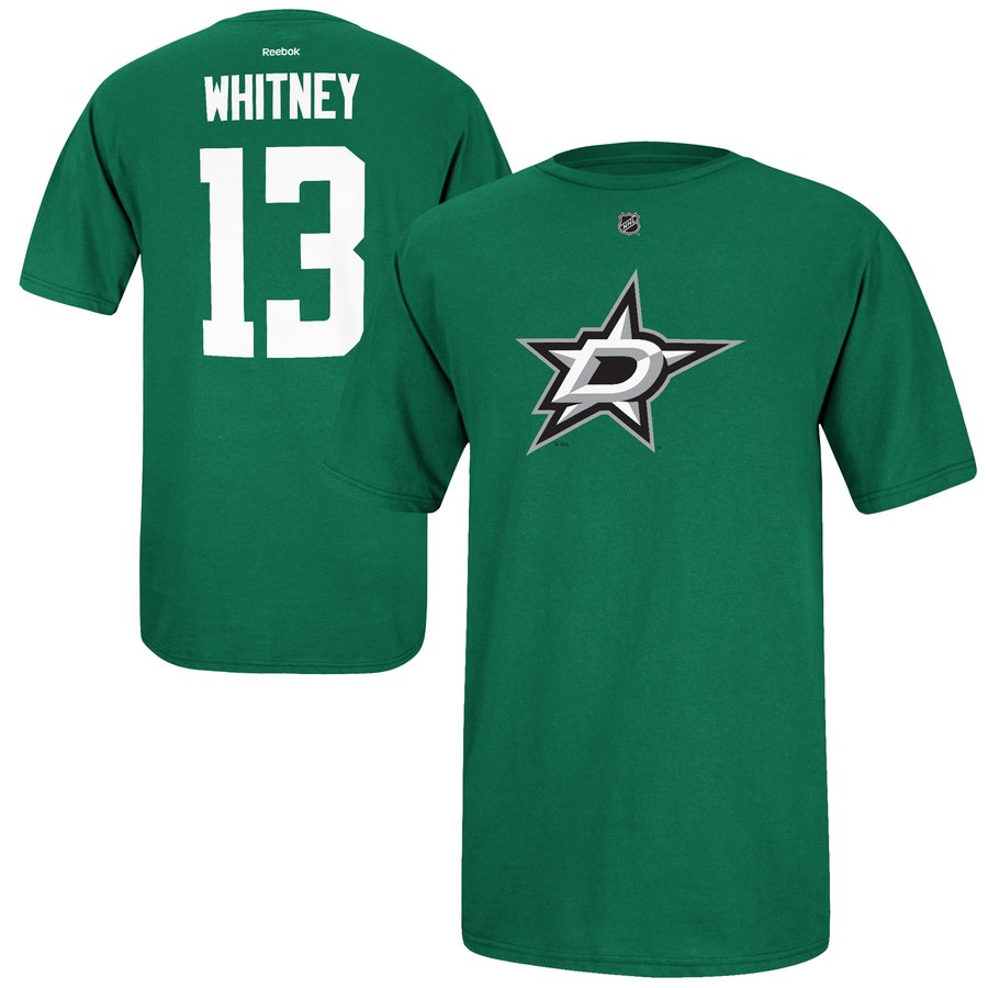 Dallas Stars #13 Ray Whitney Reebok Name and Number Player T-Shirt Green