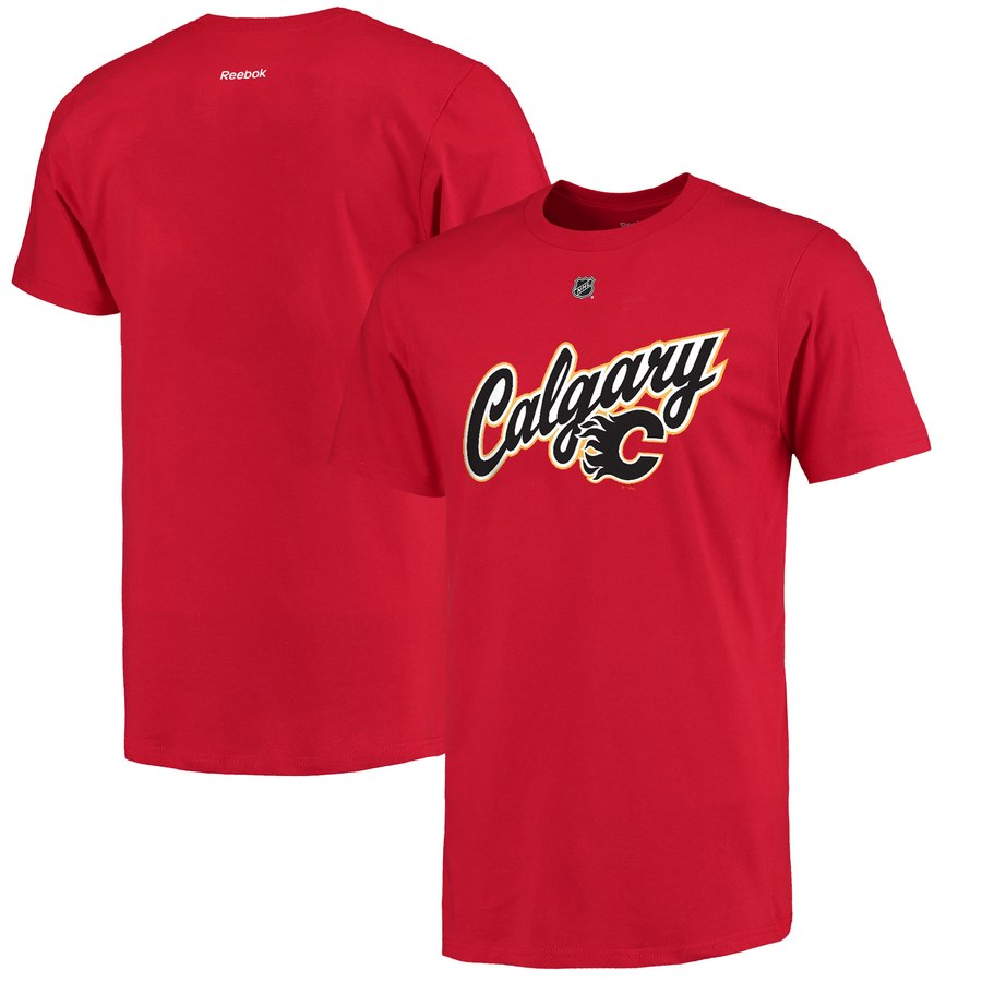 Calgary Flames Sean Monahan Reebok Alternate Name and Number T-Shirt Red