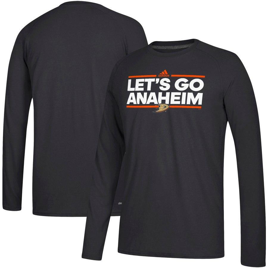 Anaheim Ducks adidas Local Ultimate Dassler Long Sleeve T-Shirt Black