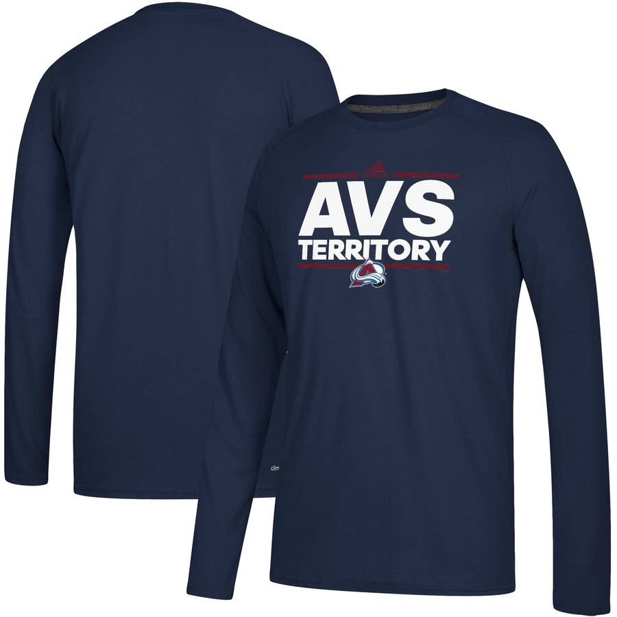 Colorado Avalanche adidas Local Ultimate Dassler Long Sleeve T-Shirt Navy