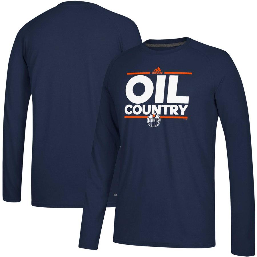 Edmonton Oilers adidas Local Ultimate Dassler Long Sleeve T-Shirt Navy