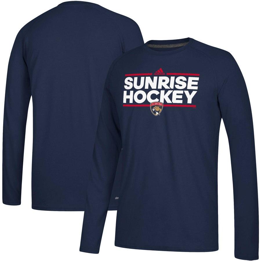 Florida Panthers adidas Local Ultimate Dassler Long Sleeve T-Shirt Navy