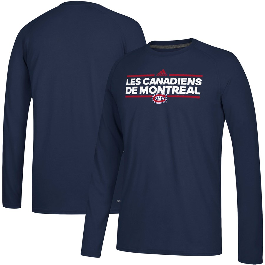 Montreal Canadiens adidas Local Ultimate Dassler Long Sleeve T-Shirt Navy