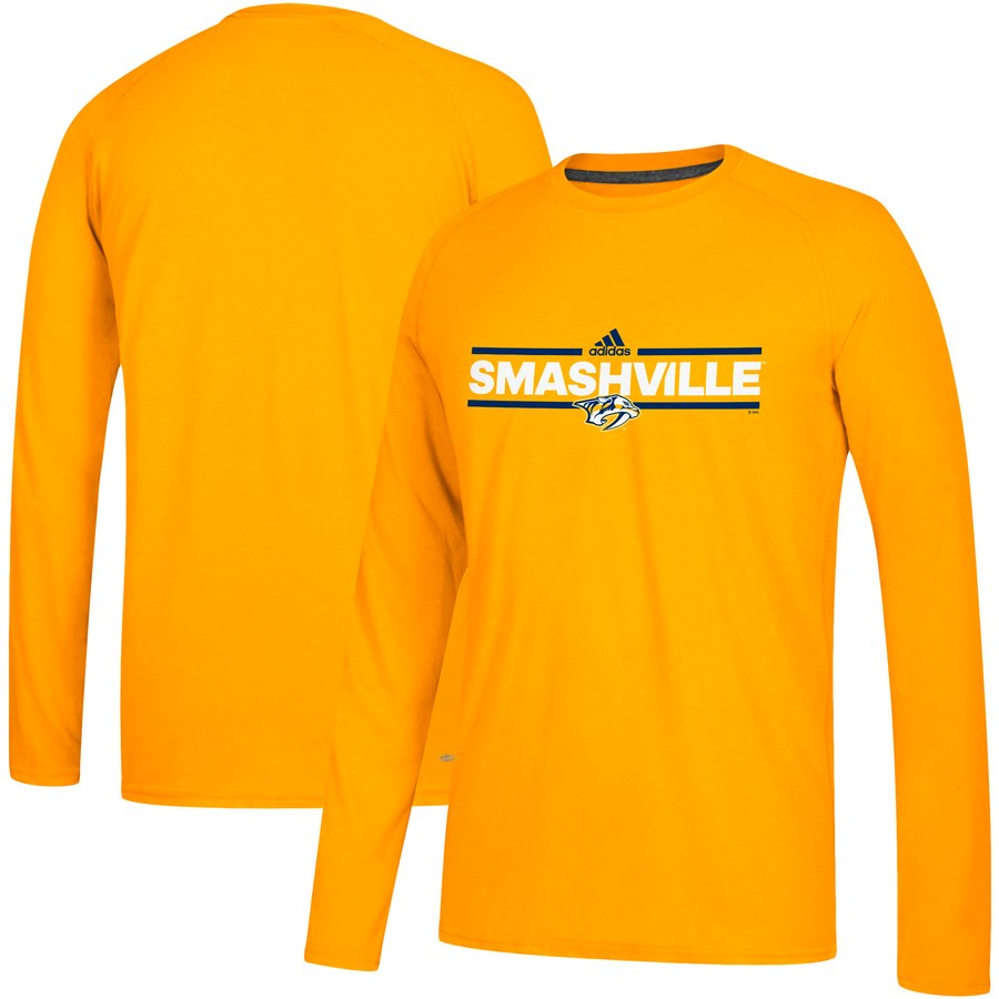 Nashville Predators adidas Local Ultimate Dassler Long Sleeve T-Shirt Gold