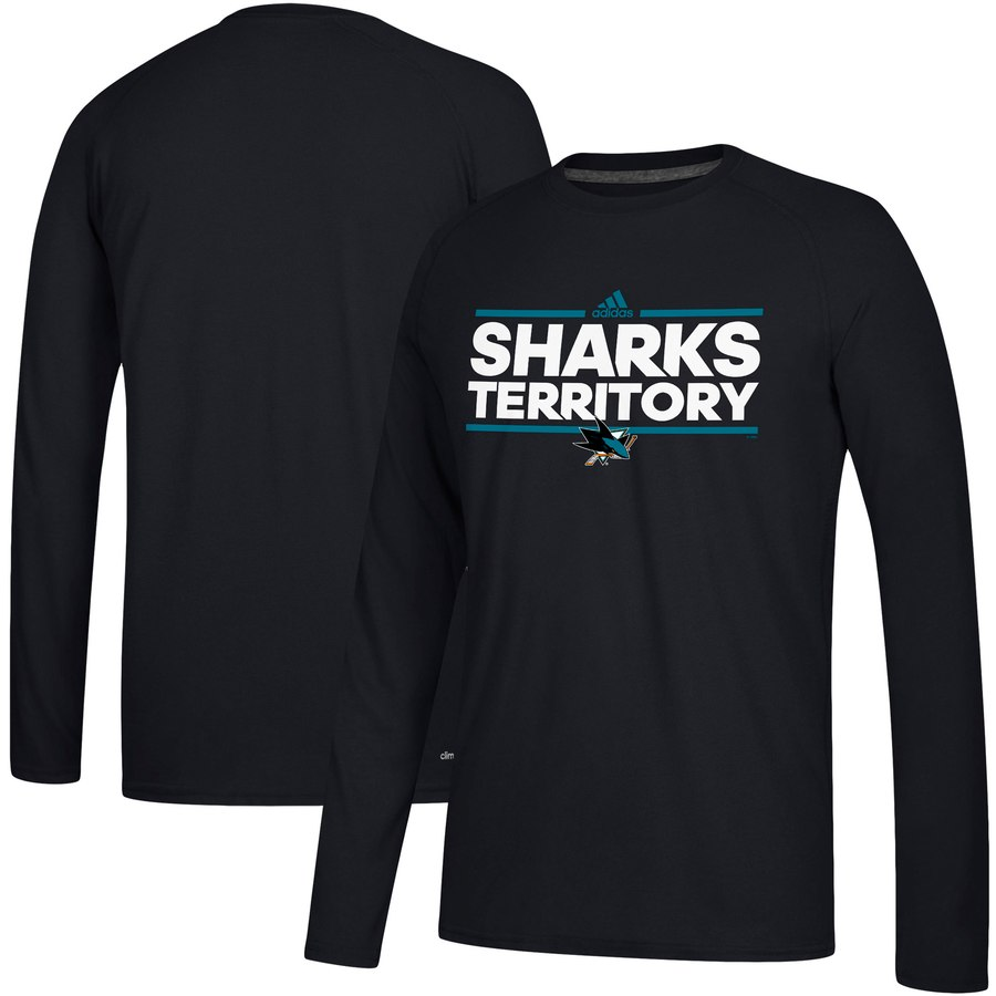 San Jose Sharks adidas Local Ultimate Dassler Long Sleeve T-Shirt Black