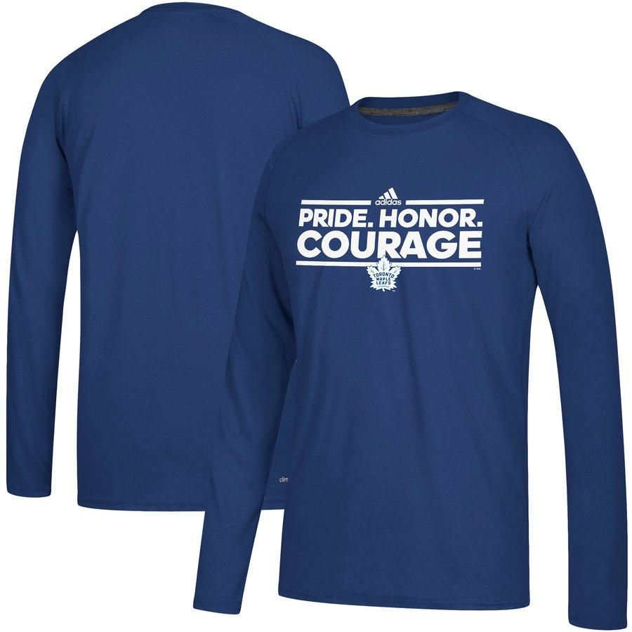 Toronto Maple Leafs adidas Local Ultimate Dassler Long Sleeve T-Shirt Blue