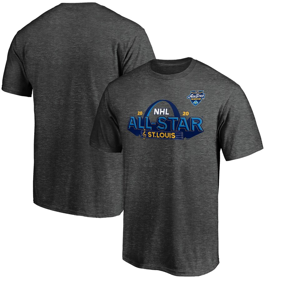 2020 NHL All-Star Game St. Louis T-Shirt Heather Gray