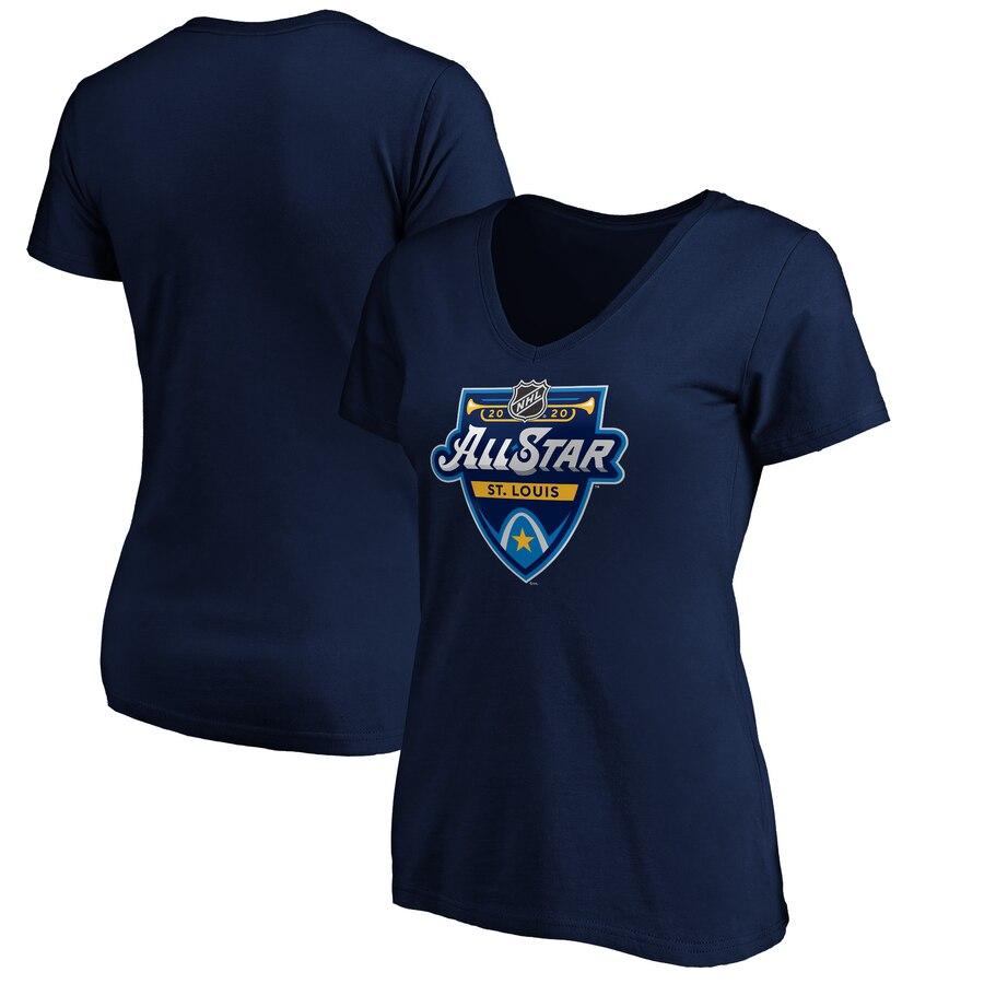 Women's 2020 NHL All-Star Game V-Neck T-Shirt Navy