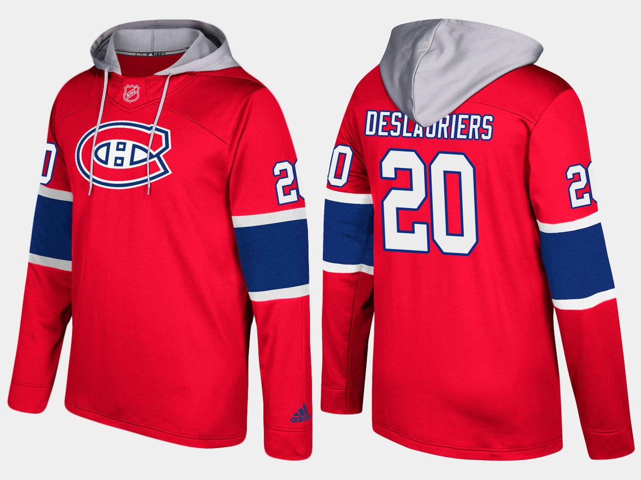 Canadiens #20 Nicolas Deslauriers Red Name And Number Hoodie