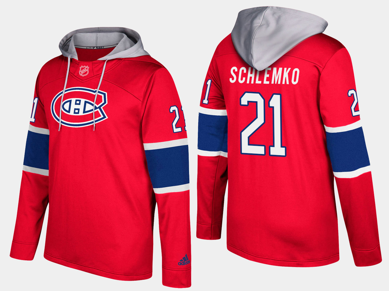 Canadiens #21 David Schlemko Red Name And Number Hoodie
