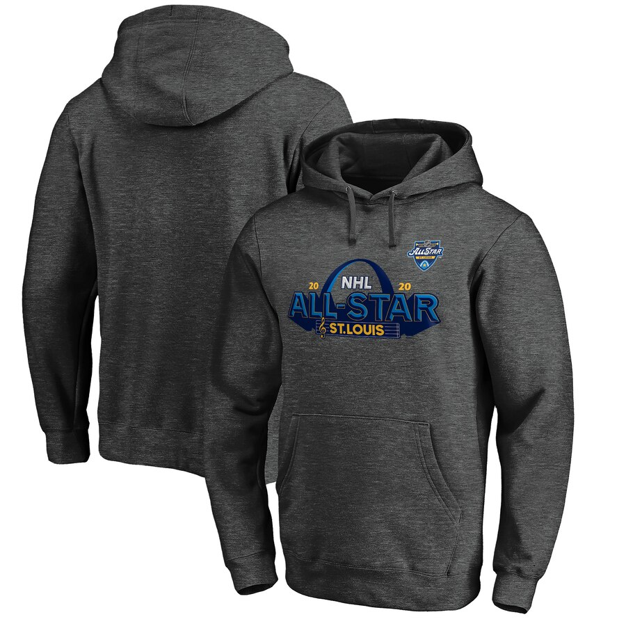 2020 NHL All-Star Game St. Louis Pullover Hoodie Heather Gray