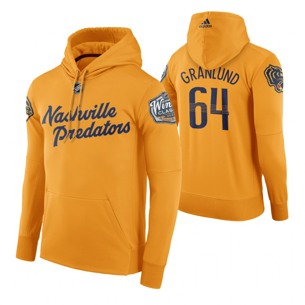Adidas Predators #64 Mikael Granlund Men's Yellow 2020 Winter Classic Retro NHL Hoodie