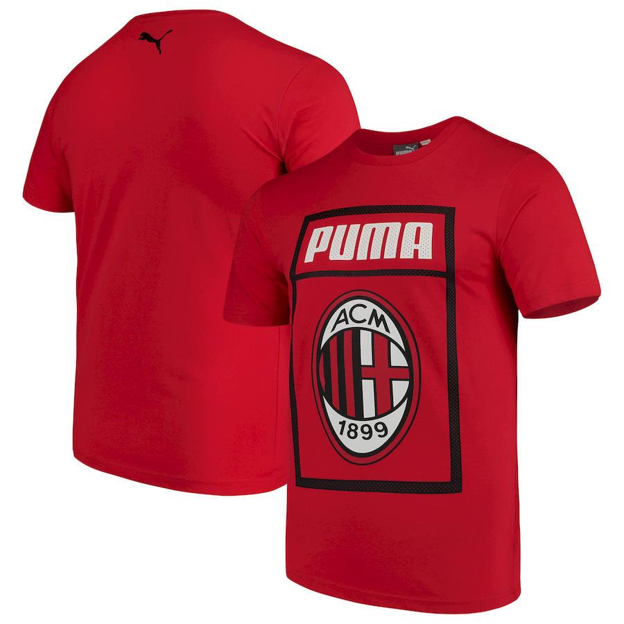 AC Milan Puma Fan Cotton T-Shirt Red