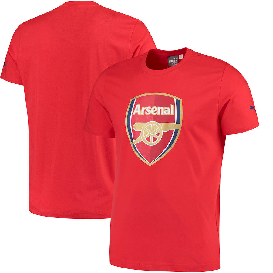 Arsenal Puma Crest Fan T-Shirt Red