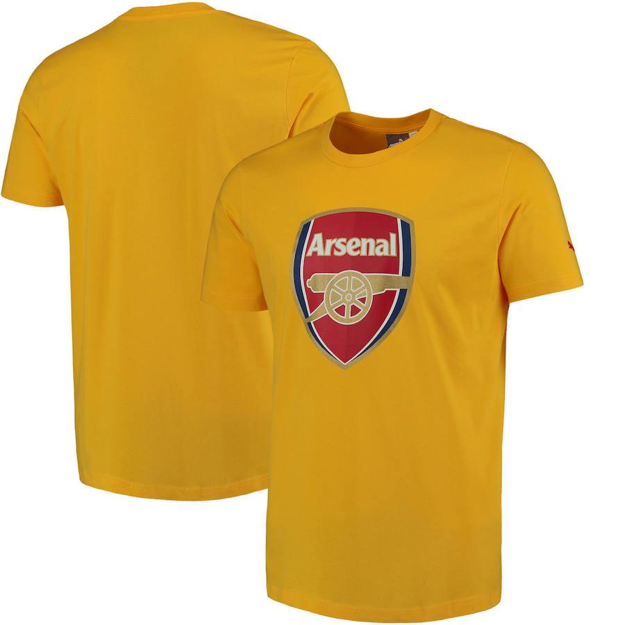Arsenal Puma Crest Fan T-Shirt Yellow