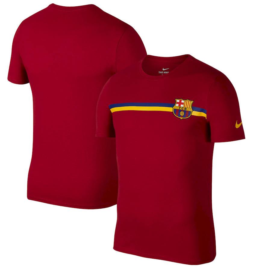 Barcelona Nike Logo Crest T-Shirt Red