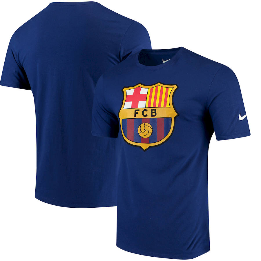 Barcelona Nike QT T-Shirt Blue