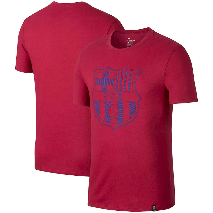 Barcelona Nike Team Crest Performance T-Shirt Red